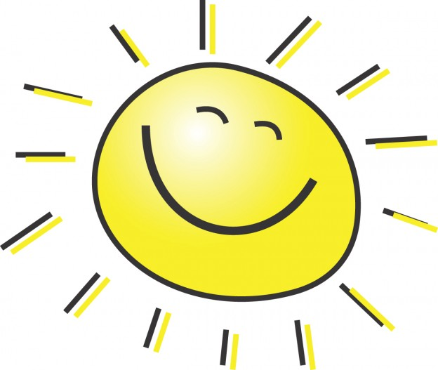 happy sun clipart 5 free summer clipart illustration of a happy smiling sun 624x527